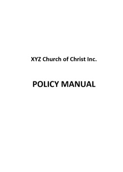 sample-church-policy-manual