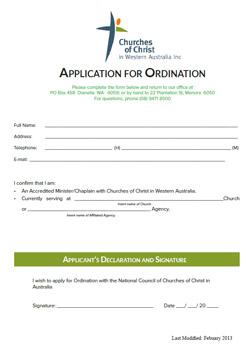 application-ordination