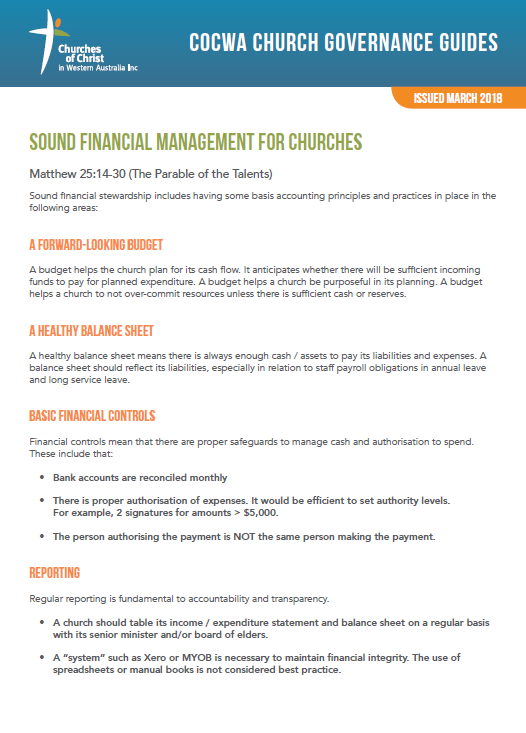 Sound-Financial-Management